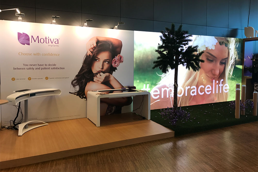 LEDskin 10x5 to Motiva at Beauty Throgh Science 2017 Stockholm