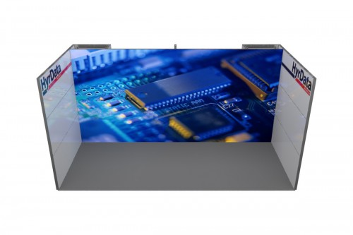 LEDskin HyrData stand 6x3m